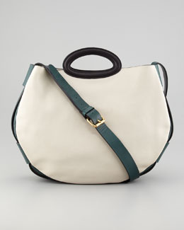 Marni Colorblock Shoulder-Strap Tote Bag