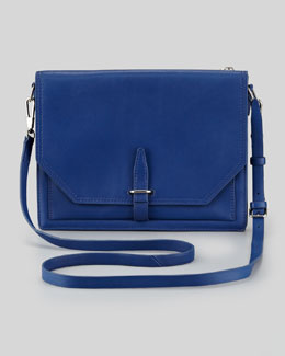 3.1 Phillip Lim Polly Double-Compartment Crossbody Bag, Dark Blue