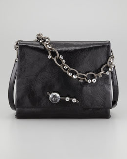 Miu Miu Vitello Chain Shoulder Bag, Black