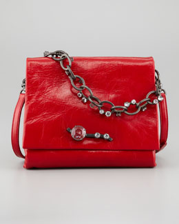 Miu Miu Vitello Chain Shoulder Bag, Red