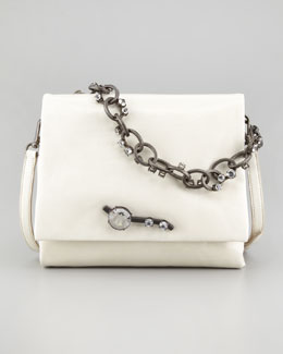 Miu Miu Vitello Chain Shoulder Bag, Off White