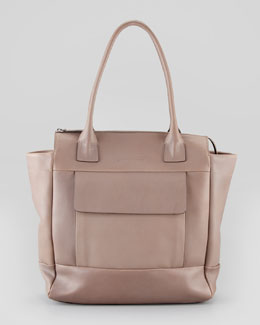 Brunello Cucinelli Front Pocket Tote Bag, Cocoa