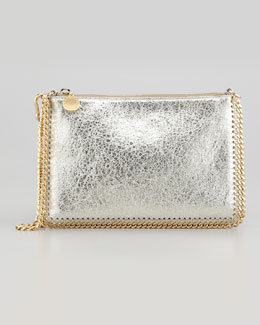 Stella McCartney Metallic Mini Chain Shoulder Bag, Platinum