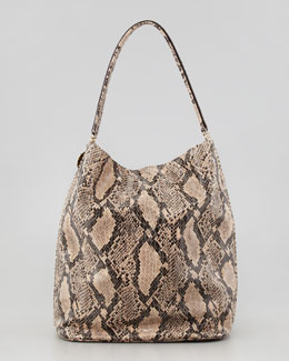 Stella McCartney Boo Faux-Python Hobo Bag, Nude