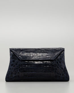 Nancy Gonzalez Crocodile Convertible Clutch Bag, Navy