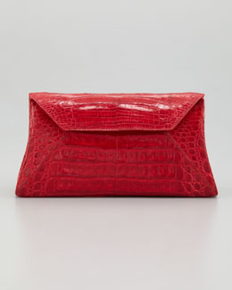 Nancy Gonzalez Crocodile Convertible Clutch Bag, Red