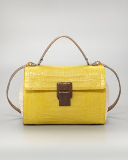 Nancy Gonzalez Stringray-Buckle Lady Bag