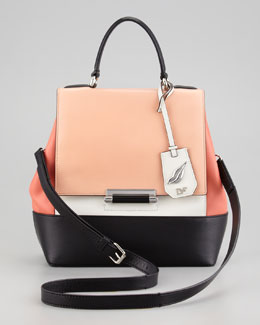 Diane von Furstenberg 440 Small Colorblock Satchel Bag