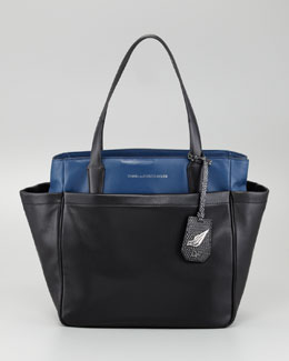 Diane von Furstenberg On-the-Go Metallic Tote Bag, Multi Colors