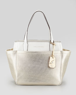 Diane von Furstenberg On-the-Go Metallic Tote Bag, Gold