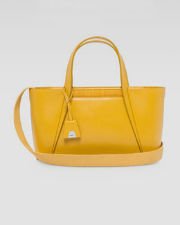 Akris Alexa Small Day Tote Bag, Yellow