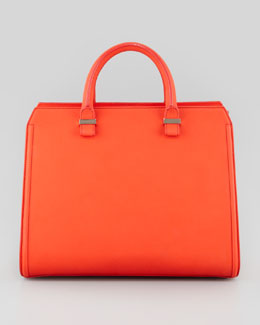 Victoria Beckham Victoria Leather Tote Bag, Coral
