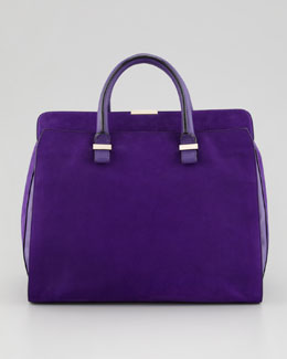 Victoria Beckham Victoria Soft Double-Handle Handbag, Purple