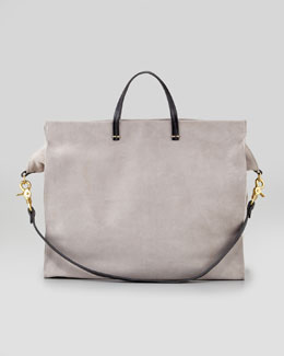 Clare Vivier Suede Simple Tote Bag, Grey