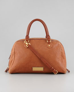 MARC by Marc Jacobs Washed Up Lauren Leather Satchel Bag, Tan