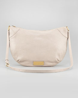 MARC by Marc Jacobs Washed Up Leather Messenger Bag, Taupe