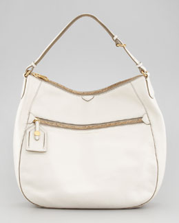 MARC by Marc Jacobs Globetrotter Wild Wild Willa Hobo Bag, White