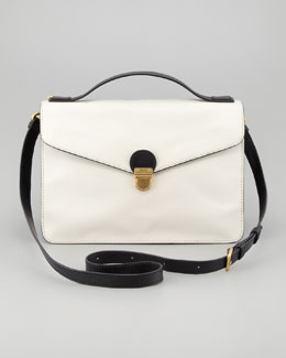 MARC by Marc Jacobs Top Chicret Two-Tone Leather Satchel