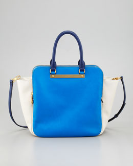 MARC by Marc Jacobs Goodbye Columbus Bentley Colorblock Tote Bag, Blue