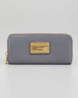 MARC by Marc Jacobs Classic Q Slim Continental Wallet, Gray