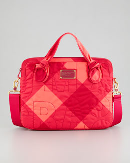 "MARC by Marc Jacobs 13"" Stacey Printed Nylon Commuter Laptop Case, Pink"