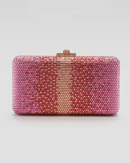 Judith Leiber Airstream Large Ombre Pointillist Clutch Bag, Pink