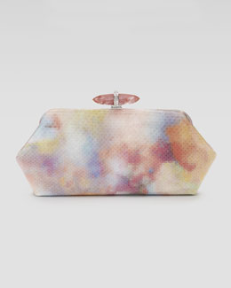 Judith Leiber Whitman Pixelated Python Clutch Bag