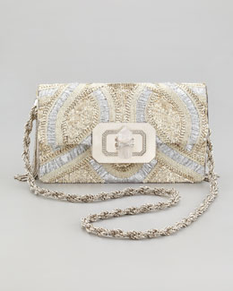 Marchesa Phoebe Large Shoulder Bag, Silver