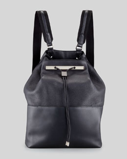 The Row Hobo Leather Hobo/Backpack, Black