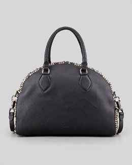 Christian Louboutin Panettone Large Dome Satchel Bag, Black