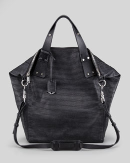 McQ Alexander McQueen Stepney Leather Tote Bag, Black