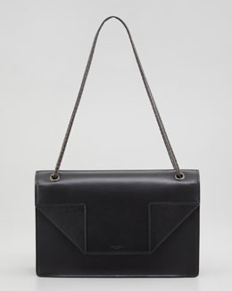 Saint Laurent Betty Medium Chain Shoulder Bag, Black