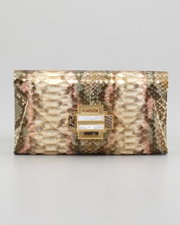 Kara Ross Electra Vintage Python Clutch Bag