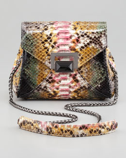 Kara Ross Itty Bitty Trinity Python Lady Bag, Multi
