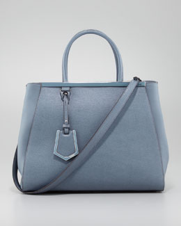 Fendi 2Jours Medium Tote Bag, Sky