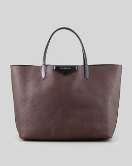 Givenchy Antigona Large Sugar Bicolor Shopper Bag, Black