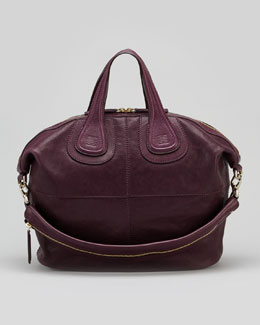 Givenchy Nightingale Zanzi Medium Satchel Bag, Purple