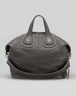 Givenchy Nightingale Sugar Medium Satchel Bag, Gray
