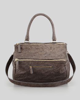 Givenchy Pandora Medium Old Pepe Satchel Bag, Charcoal