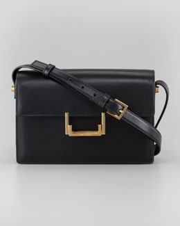 Saint Laurent Medium Lulu Shoulder Bag, Black