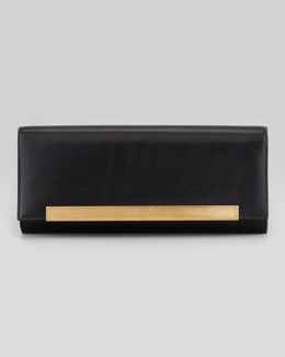Saint Laurent Lutetia Flap Clutch Bag, Black