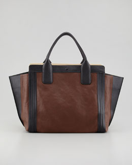 Chloe Alison Small Tote Bag, Brown