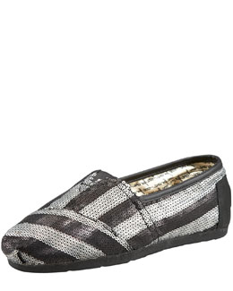 TOMS Gurley Stripe Sequin Slip On