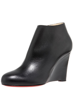 Christian Louboutin Stacked-Wedge Bootie