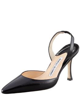 Kidskin High-Heel Halter, Black