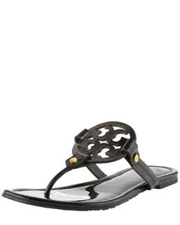 Tory Burch Tory Burch Miller Logo Flat Thong Sandal, Black