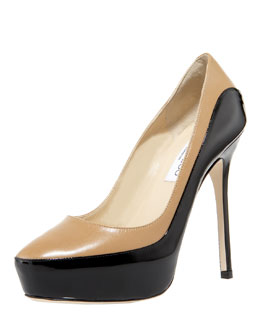 Jimmy Choo Sepia Two-Tone Platform Pump