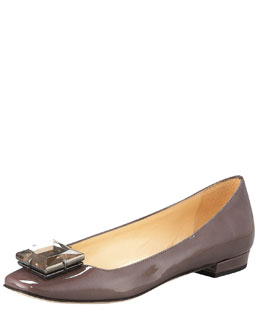 kate spade new york norma jewel-toe patent flat