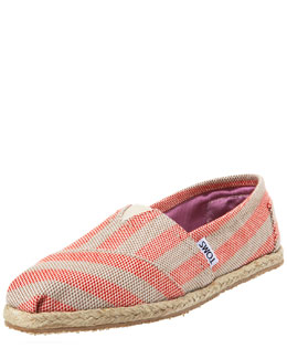 TOMS Shoes Beacon Striped Espadrille Slip-On