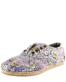 TOMS Shoes Floral-Print Oxford Slip-On